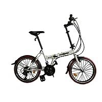 """ECOSMO 20"""" Folding City Bicycle Bike 21SP - 20F03W"""