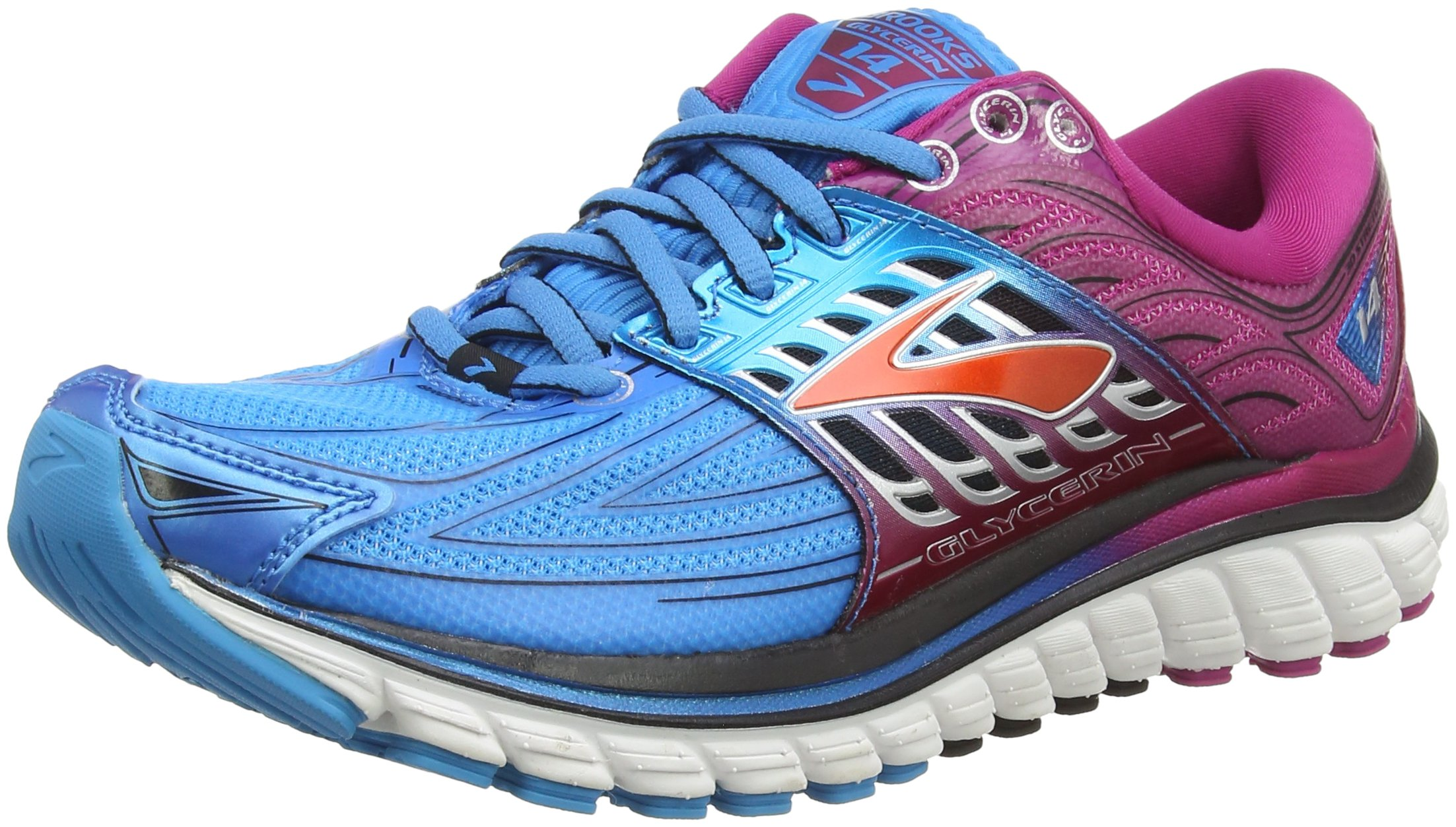 9a87c0ab91 Galleon - Brooks Glycerin 14 Women's Running Shoes - 9.5 - Blue