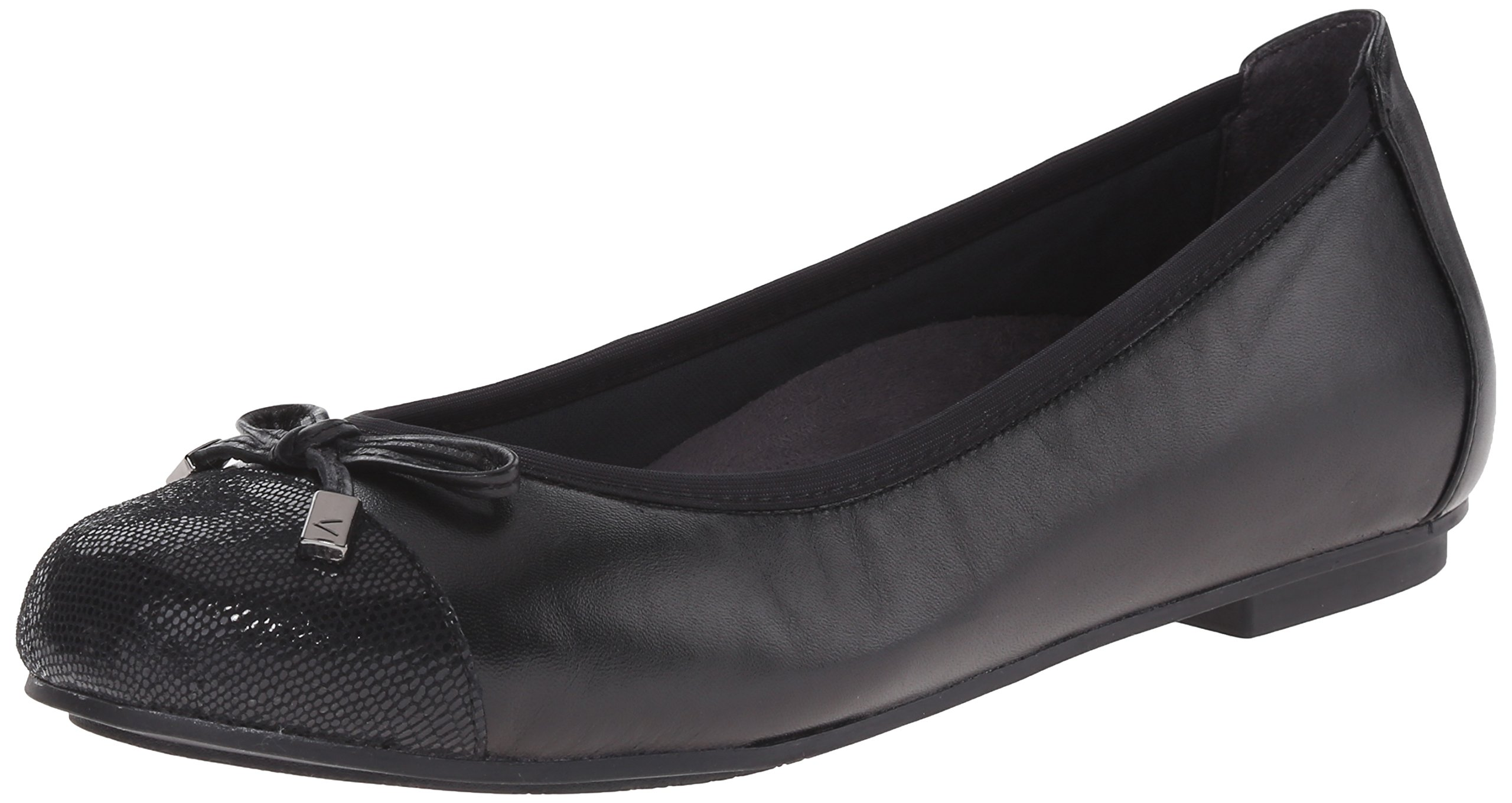 Vionic with Orthaheel Technology Women's Minna Ballet Flat,Black,US 8.5 M
