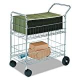 Fellowes 40912 Wire Mail Cart, 21-1/2w x 37-1/2d