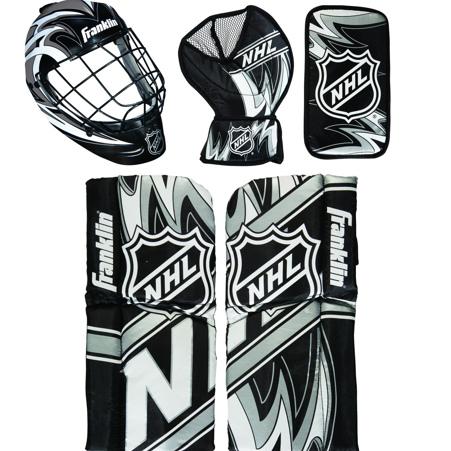 Franklin Sports NHL Mini Hockey Goalie Equipment with Mask Set, Colors May Vary 12436