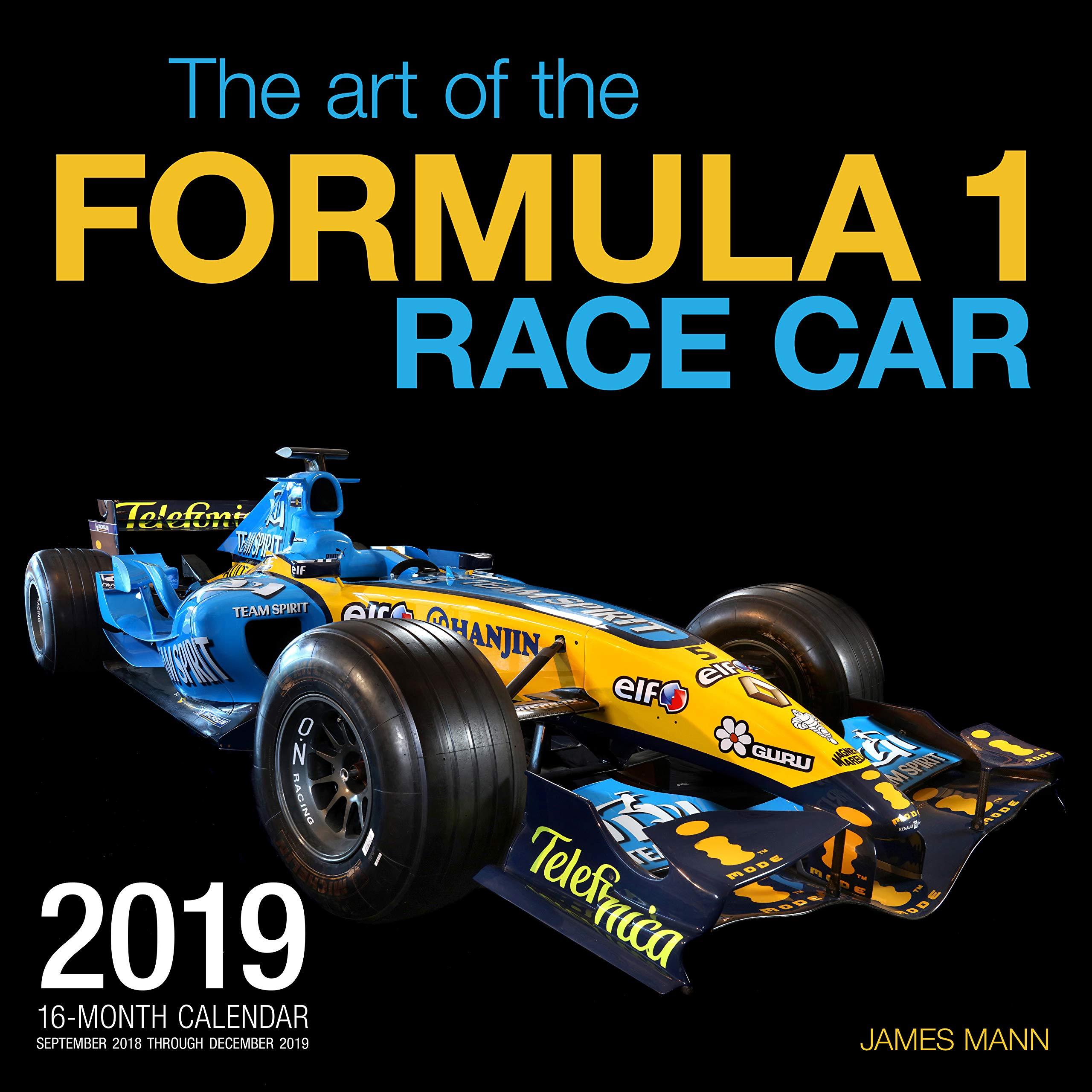 The Art of the Formula 1 Race Car 2019: 16 Month Calendar ...