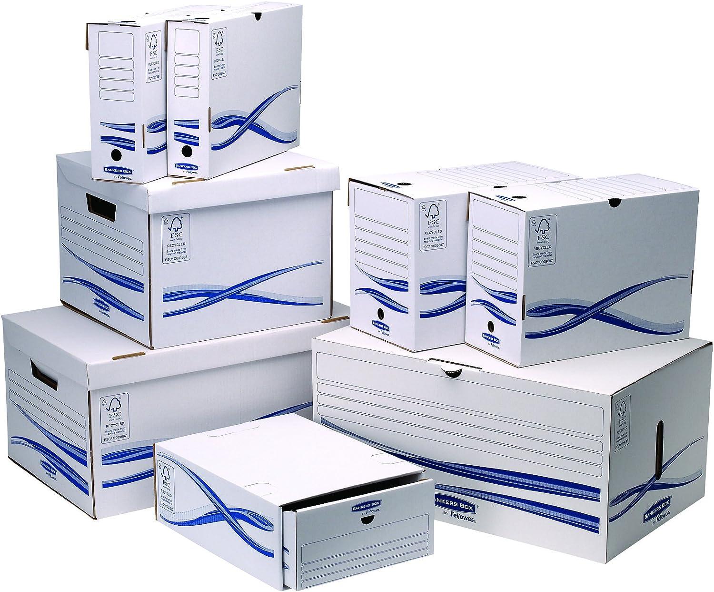 Fellowes Bankers Box Basic Lot de 25 Boîtes d'archives A4 10 cm Bleu/Blanc: Amazon.fr: Fournitures de bureau