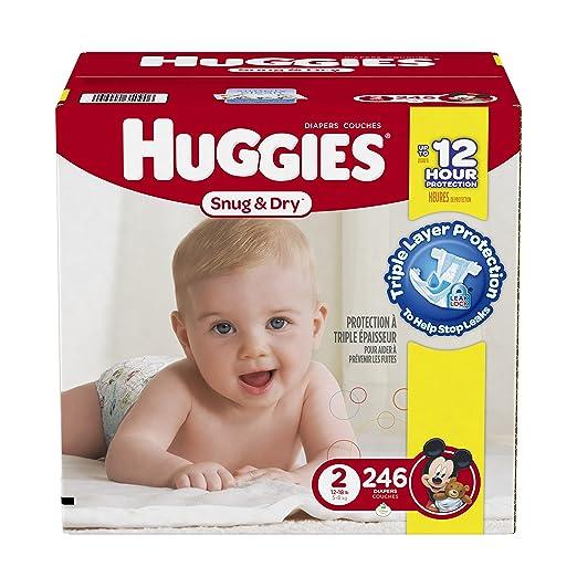 Huggies 246-Count Pack $25.80.