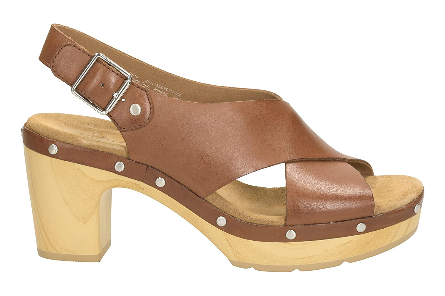 8f292855fc0 Clarks Womens Casual Clarks Ledella Club Leather Sandals In Brown   Amazon.co.uk  Shoes   Bags