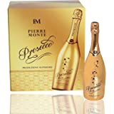 Pierre Monte Prosecco Gold Limited Edition Sparkling Wine Case | Easy Drinking Wine with Fruity Flavors and Acacia Aromas | Pack of 6