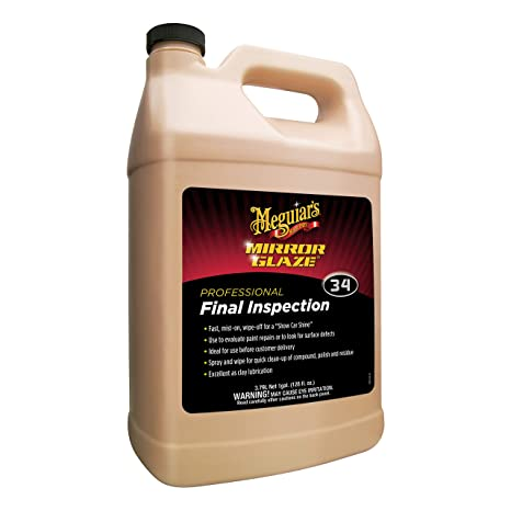 Meguiars M34 Mirror Glaze Final Inspection – Professional Spray Detailer for Final Touch – M3401, 1 gal