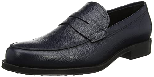 Tods Shoes Mini Lama Print, Mocasines para Hombre, Azul (Notte U805),