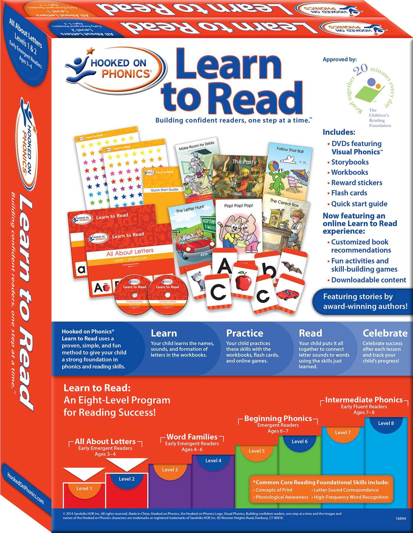 Hooked on phonics learn to read levels 12 complete all about hooked on phonics learn to read levels 12 complete all about letters early emergent readers pre k ages 3 4 hooked on phonics aljukfo Images