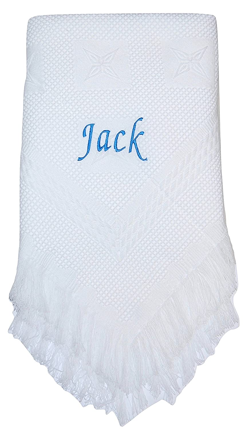 Christening Baby Shower Embroidered Shawl Gift Persoanlised Baby Blanket