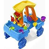 Step2 Car Wash Splash Center, Kids Outdoor Water Table Toy, Pretend Play Car Wash Toy, Blue/Orange