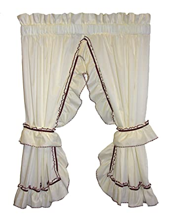 Amazoncom Window Toppers Jenny Country Ruffle Priscilla Curtains
