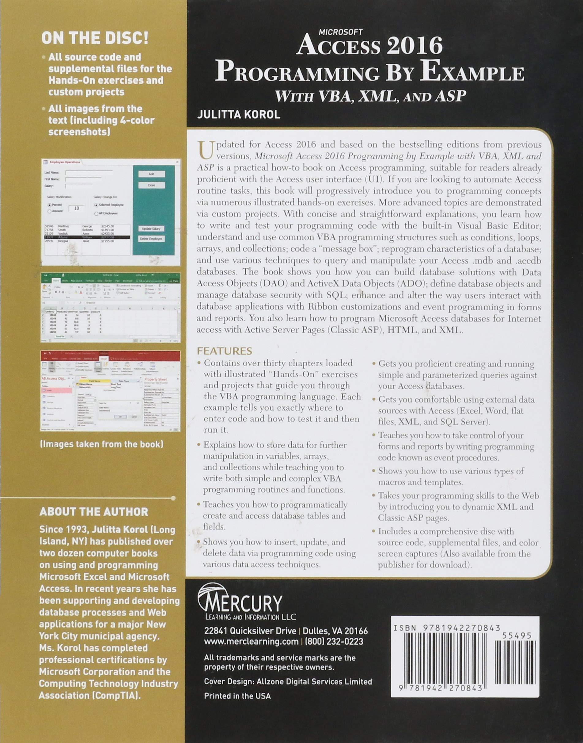 microsoft access 2016 book