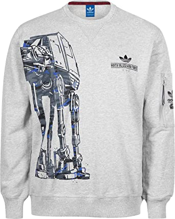 pretty nice ac153 67d00 Adidas Adidas X Star Wars Sweatshirt, Medium Grey Heather Size L  Amazon.co.uk Clothing