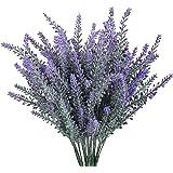 GTIDEA 4 peças de flores artificiais flocadas de plástico lavanda conjunto de plantas falsas de noiva buquê de casamento para