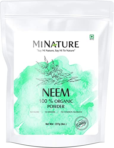 Natural Neem Powder Azardirachta Indica 227 Gram 0.5 lb Non GMO Supplements for Glowing Skin, Hair, Nails, Supports Digestion, Anti-oxidant, Supports Healthy Blood Sugar, Cholesterol, More