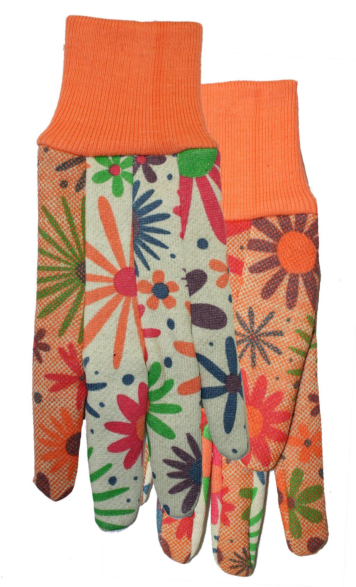 Ladies Garden Gripper Gloves, 528F6, Size: Large