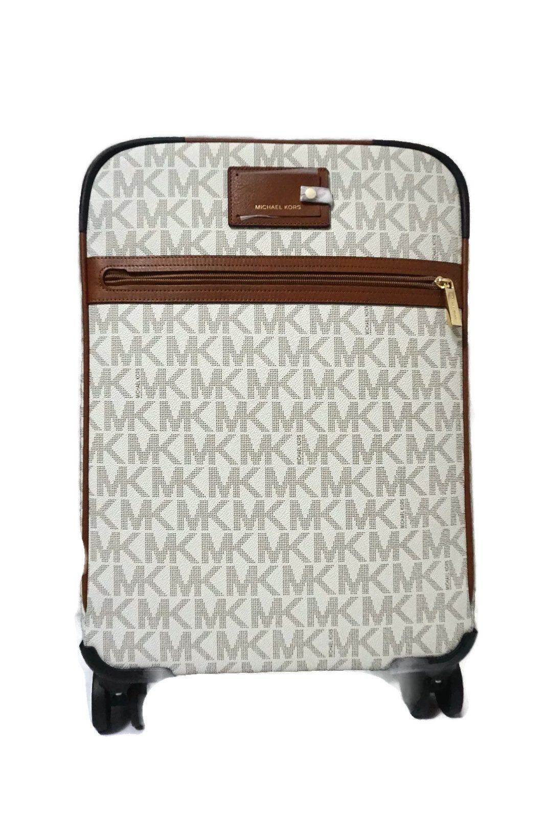Michael Kors Signature Travel Trolley Rolling Carry On Suitcase (Vanilla) by Michael Kors