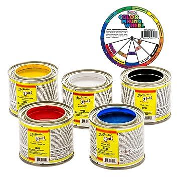 Amazon 1 one shot 5 color lettering enamel pinstripe paint 1 one shot 5 color lettering enamel pinstripe paint kit sciox Gallery