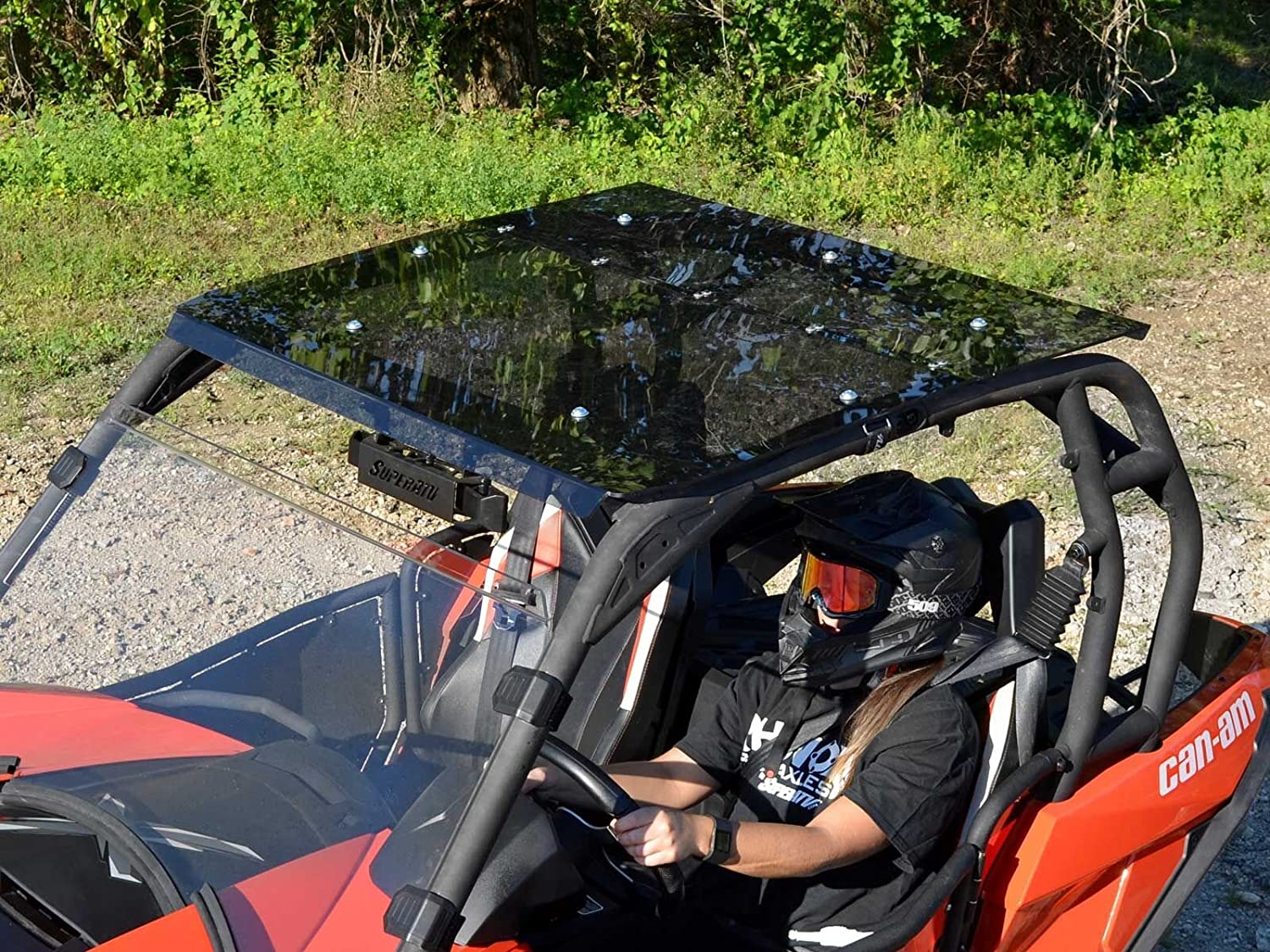 SuperATV Dark Tinted Roof for Can-Am Maverick 2014-2018 Installs in 5 Minutes!