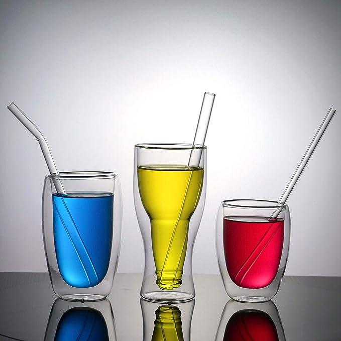 Pailles /à boire en verre r/éutilisables