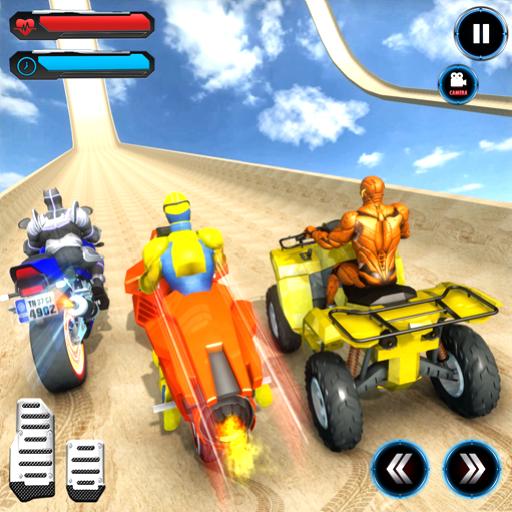 ATV Quad Bike Speed Hero Mega Ramp Stunt ()