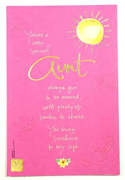 Amazon Mothers Day Card For AuntYoure A Very Special Aunt