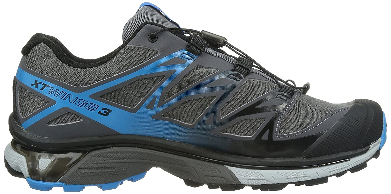 cheap for discount 59226 edc49 Salomon Men s XT Wings 3 Trail Running Shoe, Dark Cloud Light Onix Methyl  Blue, 8 M US  Buy Online at Low Prices in India - Amazon.in