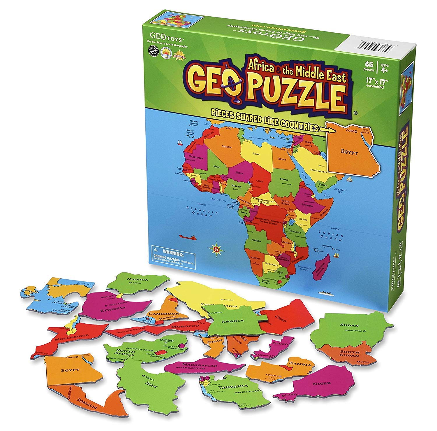 GeoToys — GeoPuzzle Africa and the Middle East — Educational Kid on map of states game, map of china game, map of canada provinces game, map of north america game, map of african countries 2012, map of south america game, map of world game, united states map game, map of life game, blank africa map game, map of europe game, africa map puzzle game, map of spain game, usa map game,