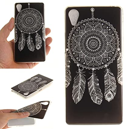 Guran® Silicona Funda Carcasa para Sony Xperia X Performance Smartphone Case Bumper Shock TPU Cover-Campana de viento blanca