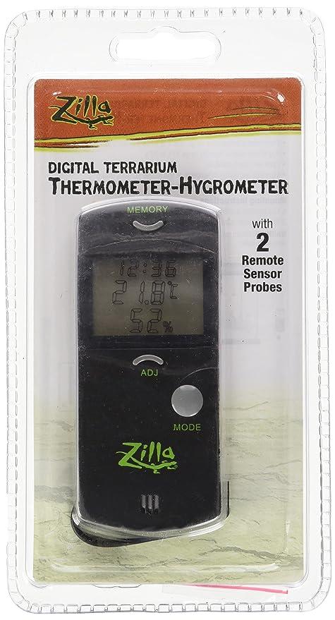 Amazon Com Zilla Reptile Terrarium Digital Thermometer Hygrometer