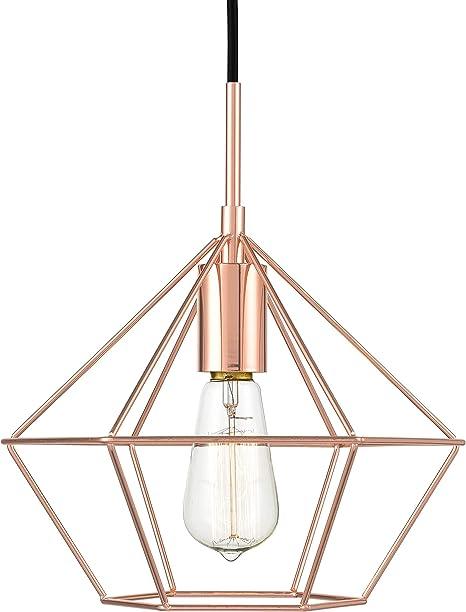 Light Society Verity Geometric Pendant Light Rose Gold Modern Industrial Lighting Fixture Ls C179 Cpr Amazon Com