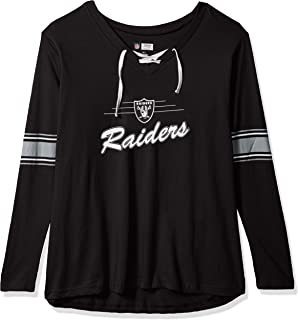 2b4f8a20 Amazon.com : NFL Womens Raiders Poly Tricot Track Jacket : Clothing