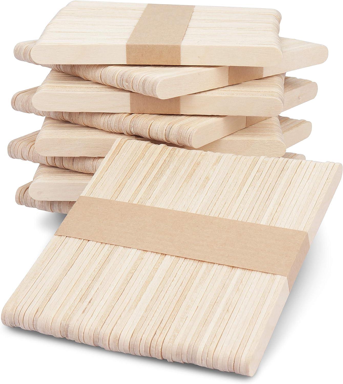 Batonnet en bois pour enfant Languette bois 11,4 x 1 cm 50 pièces MegaCrea DIY