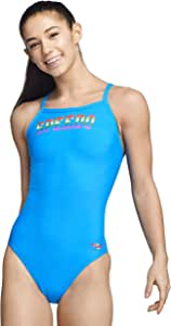 Speedo Womens Swimsuit One Piece PowerFlex Flyback Printed Adult Team Colors