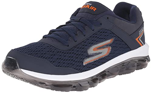 Go Air Navy and Orange Sneakers