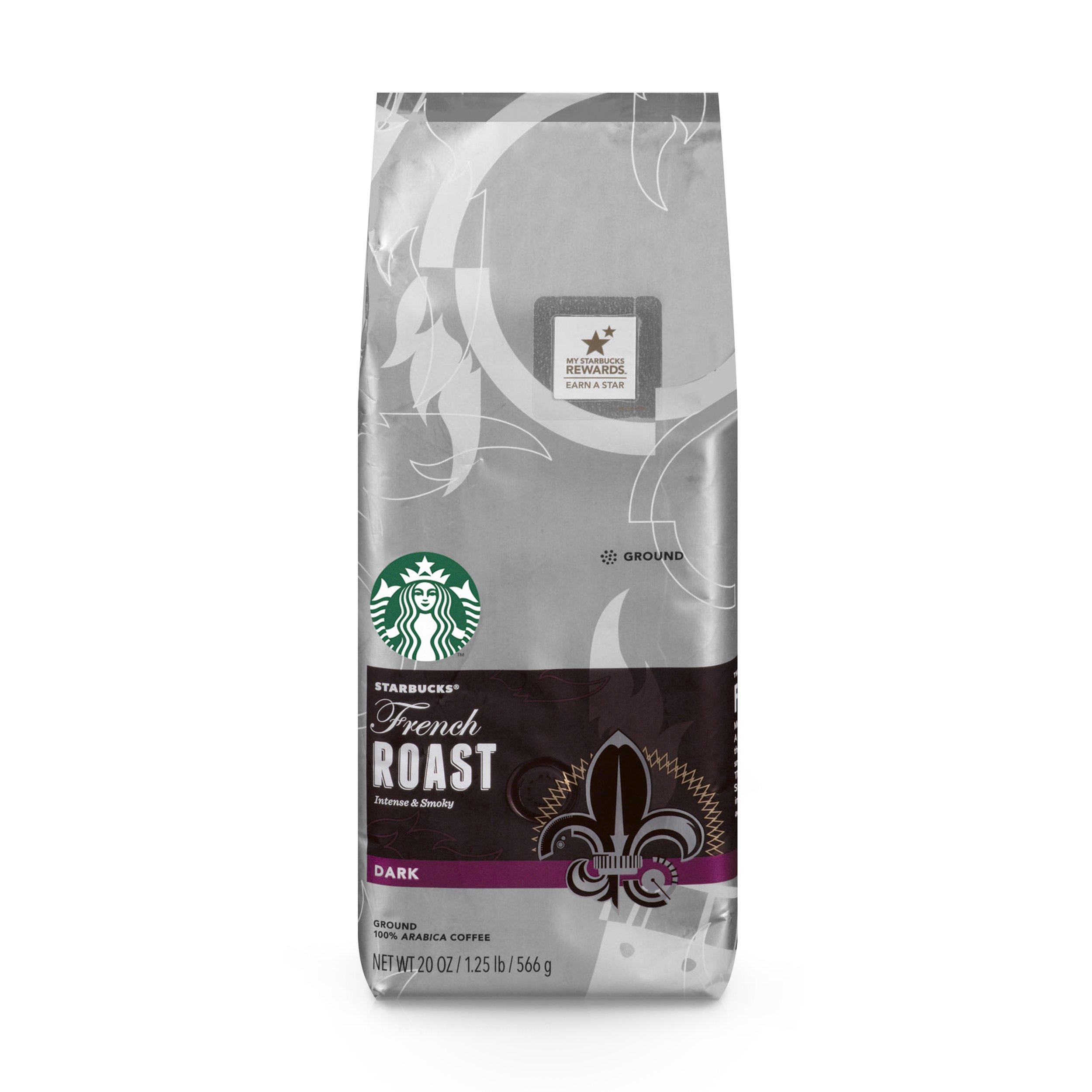 Starbucks French Roast Dark Roast Ground Coffee, 20-Ounce Bag by Starbucks
