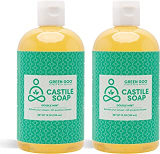 product image for Green Goo Natural Skin Care Castile Soap Wash, Double Mint, 12-ounce Bottle, 2-pack