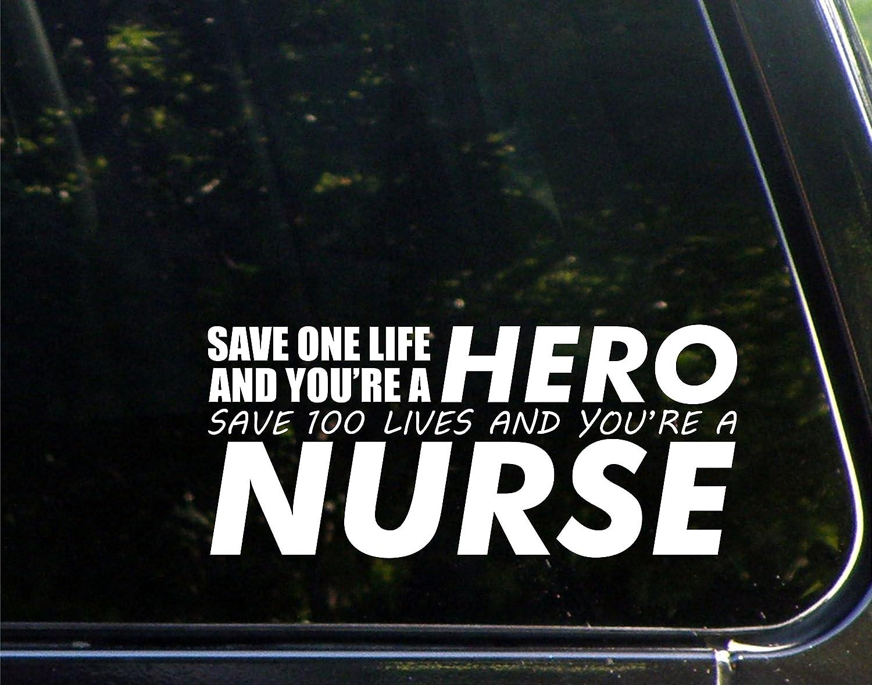 Nursing Life Vinyl Die Cut Decal Sticker for Car Laptop etc.