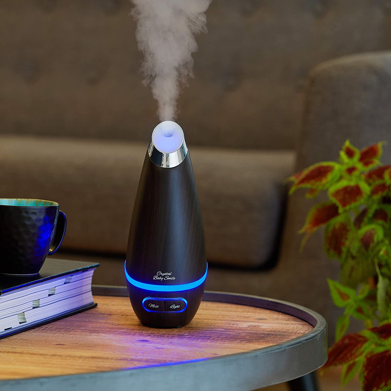 Crystal Baby Smile Essential Oil Diffuser 110 ML Aromatherapy Ultrasonic Diffuser for Oils BPA Free, Aroma Humidifier with a Cool Mist for Pure