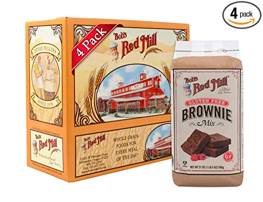 Bobs Red Mill Gluten Free Brownie Mix, 21-ounce (Pack of 4)
