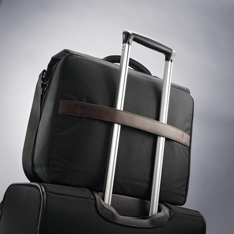 Samsonite Kombi Flapover Briefcase, Black/Brown by Samsonite (Image #7)