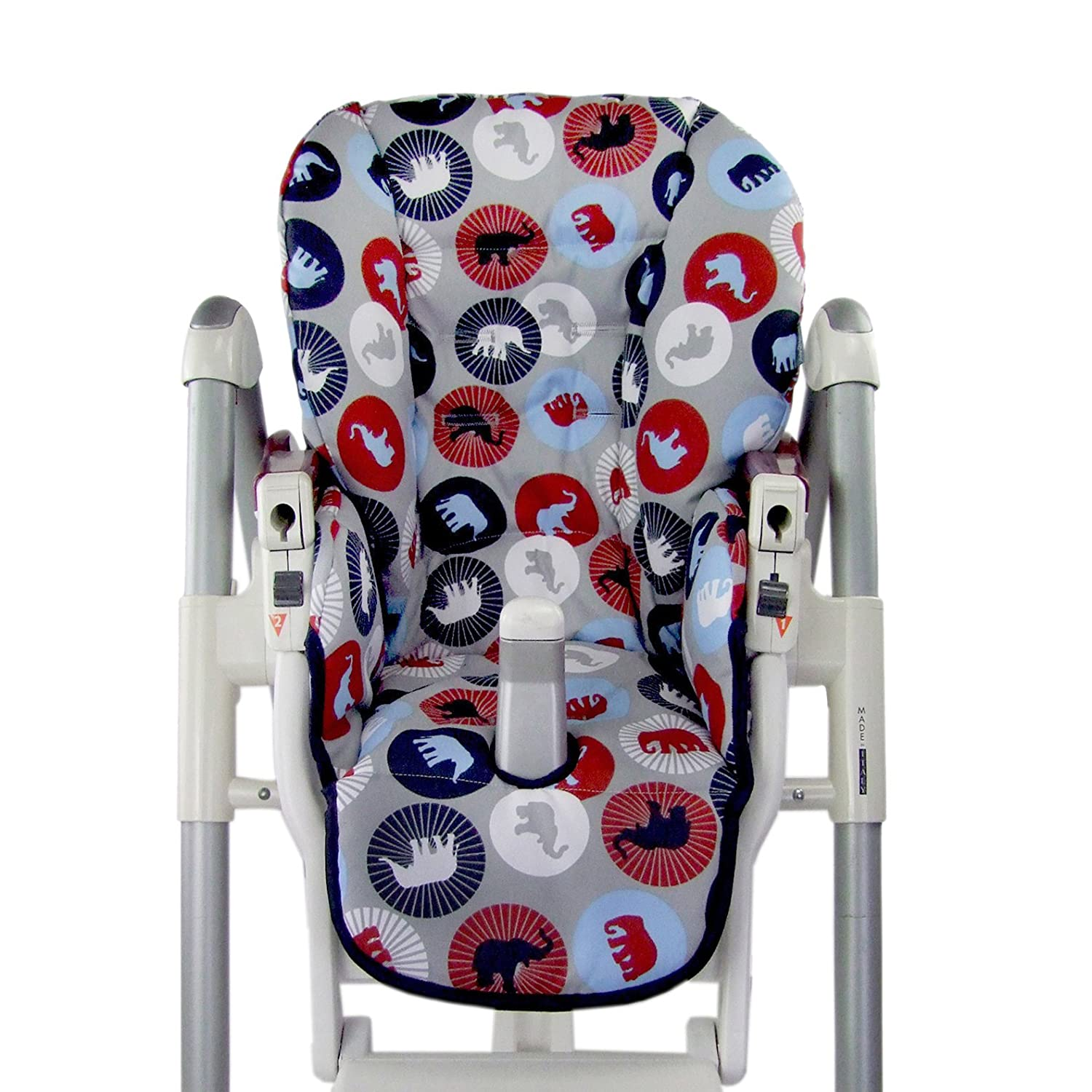 24 Colours Beige and Brown with Animal Designs BambiniWelt Replacement Seat Cushion Cover for Highchair Peg Perego Prima Pappa Diner