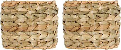 Upgradelights Sea Grass 6 Inch Retro Drum Clip On Chandelier Lamp Shades Set of 2 Shades 4x6x4.5