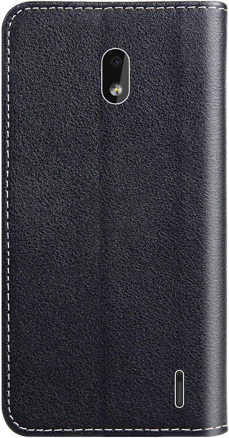 H/ülle Leder Case mit Standfunktion Magnetverschluss Flipcase Klapph/ülle kompatibel mit Nokia2.2 Docrax Nokia 2.2 Handyh/ülle DOYOX020427 Blau