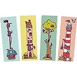 Lesezeichen Kinder Einschulung Set 4-teilig, 4 Lesezeichen, Lesezeichen Kinder, Kinderlesezeichen