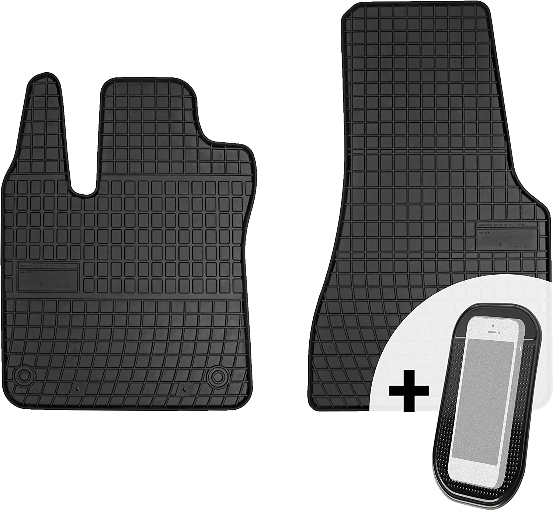 Moto Moltico Gummimatten Auto Fußmatten Gummi Automatten Passgenau 2 Teilig Set Passend Für Smart Fortwo 2015 2018 Auto