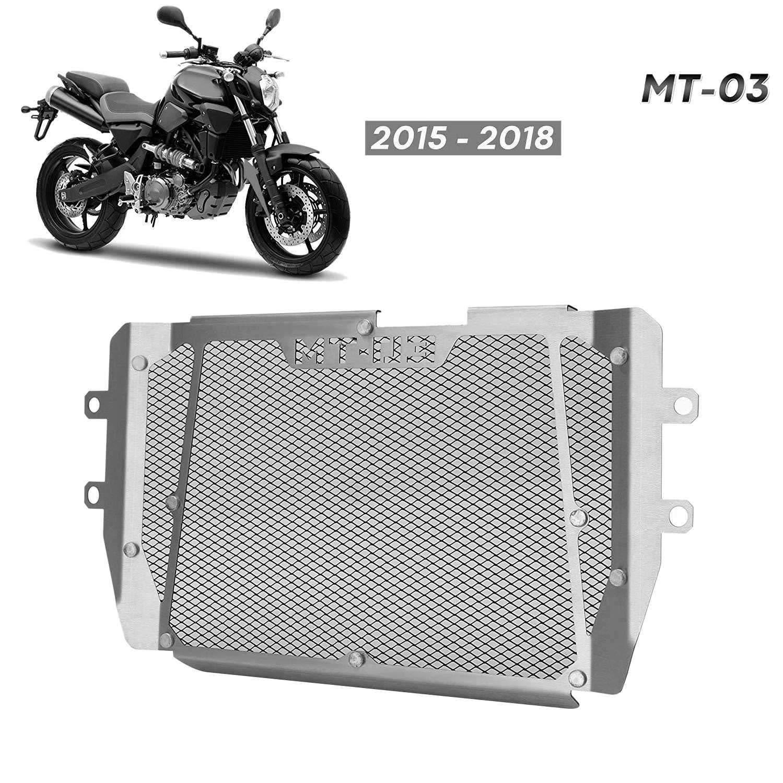 Nrpfell Piezas de la Motocicleta para MT-03 MT03 MT 03 2015-2018 Rejilla del Radiador Protector de Cubierta del Protector de Parrilla FZ 03 MT 03 MT03
