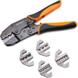 Wirefy Crimping Tool Set 5 PCS - Ratcheting Wire Crimper - For Heat Shrink, Nylon, Non-Insulated Connectors, Ferrule Terminal