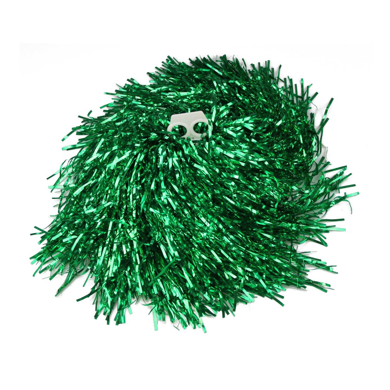 VENIMASEE Collection 1 Paar Doppel Halten Hand Shank Cheerleader Pompons, Preis/2 Stück, 0.02 kg/Stück, 6 Farben - grün Preis/2 Stück 0.02 kg/Stück 6 Farben - grün VENI MASEE